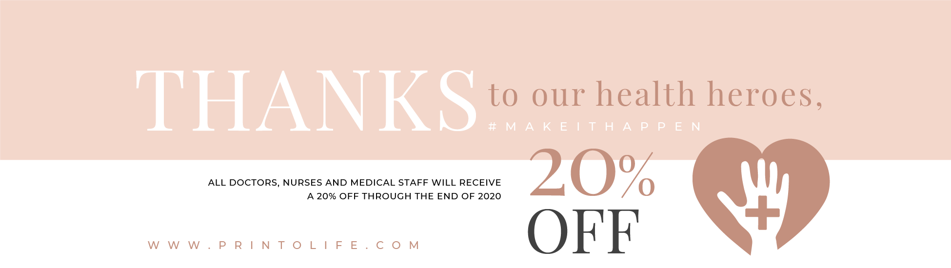 Thanks to our health heroes 20% OFF 1