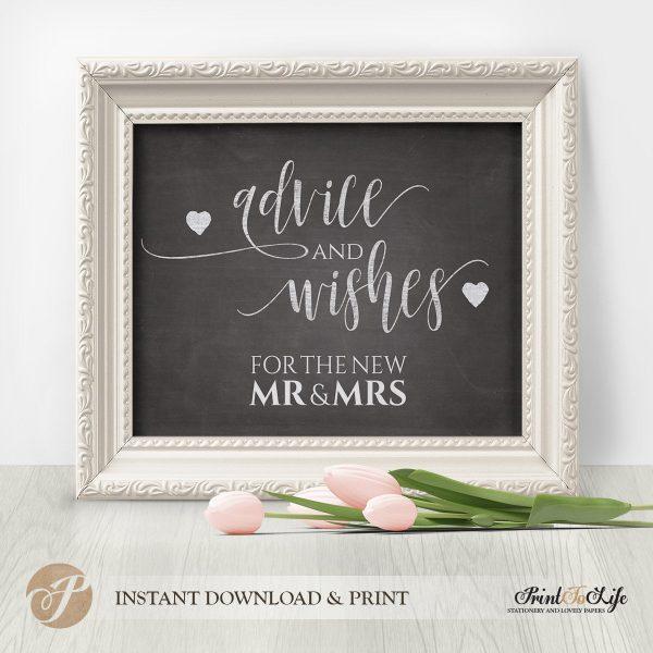 wedding advice sign