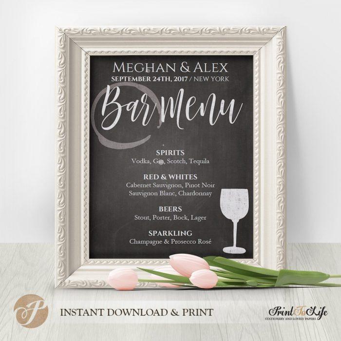 Wedding Sign Bundle, Wedding Reception Signs, Printable Chalkboard Template 1