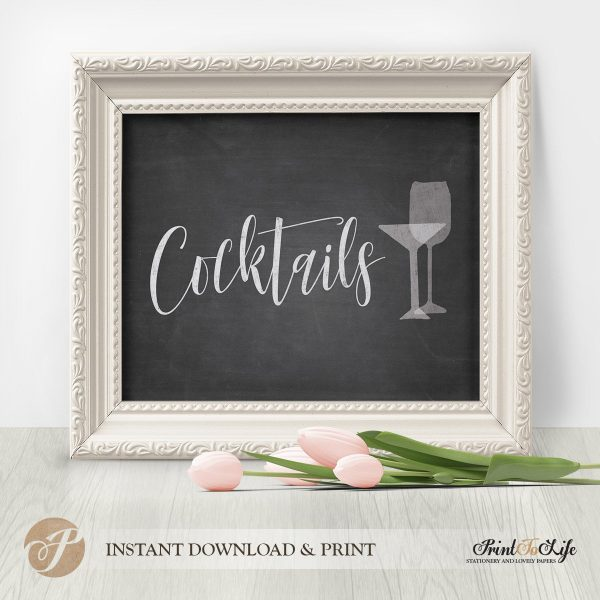 Cocktails Printable Sign