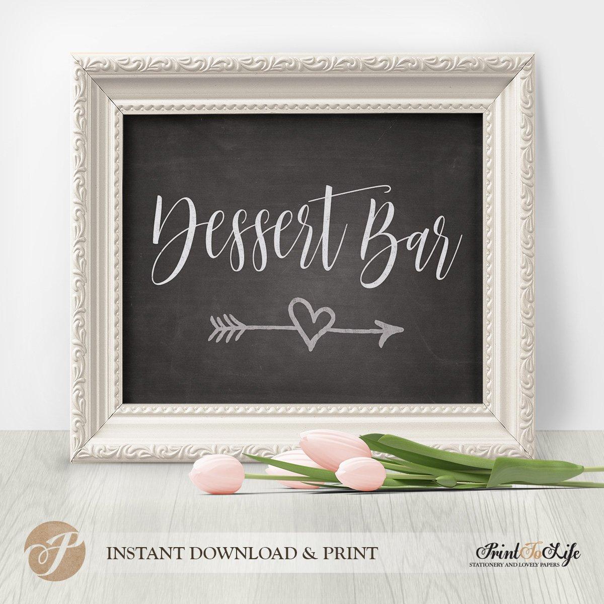 dessert bar sign