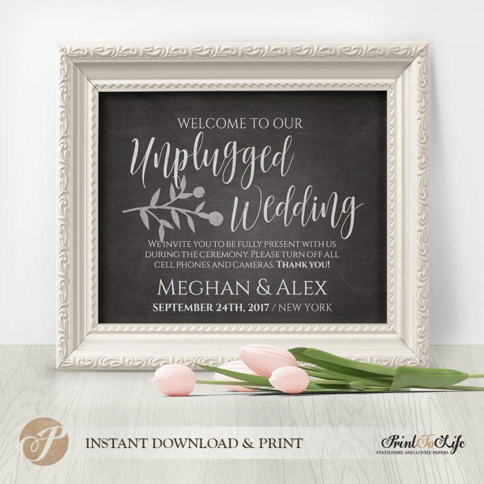 Wedding Sign Bundle, Wedding Reception Signs, Printable Chalkboard Template 7