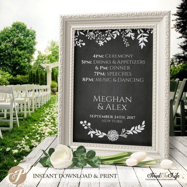 Wedding Schedule Sign