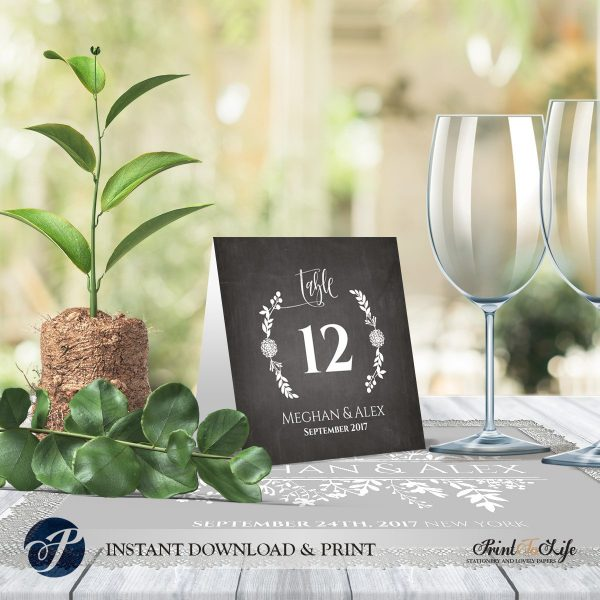 Wedding Chalkboard Numbers