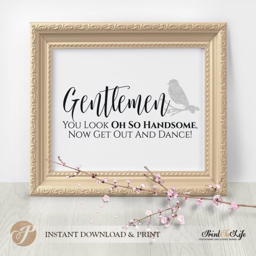 Gentlemen Restroom Sign