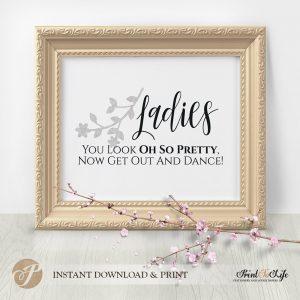 Ladies Bathroom Sign