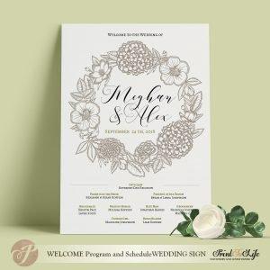 wedding program sign diy