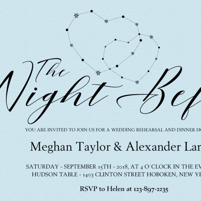 Wedding Rehearsal Dinner Invitation, The Night Before #MrAndMrs 4