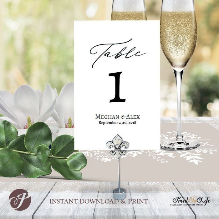 Wedding Table Numbers, Printable Wedding Numbers, #Magnolia Collection 1