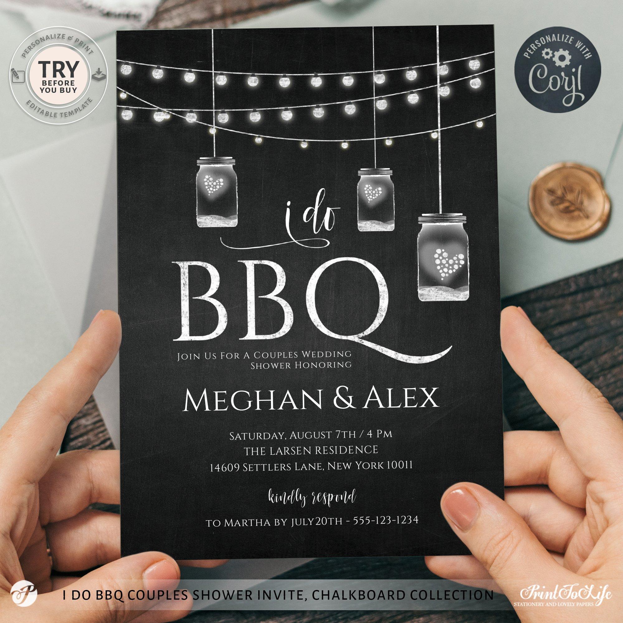 I do BBQ Invitation