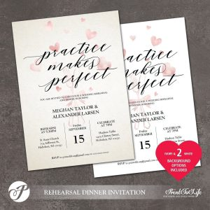 Practice Makes Perfect Rehearsal Template by Printolife