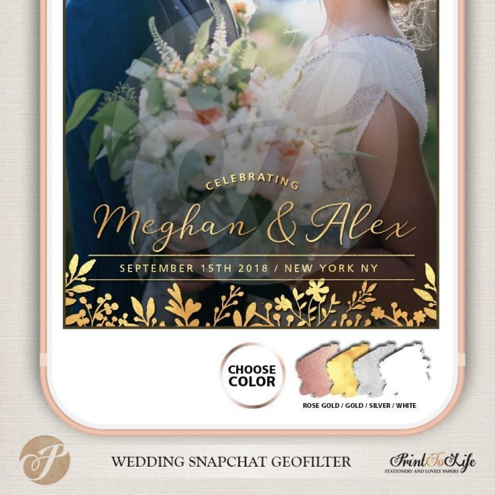 Wedding Filter, Custom Geofilter, Snapchat Geofilter, glitter and rustic floral bouquet. 4