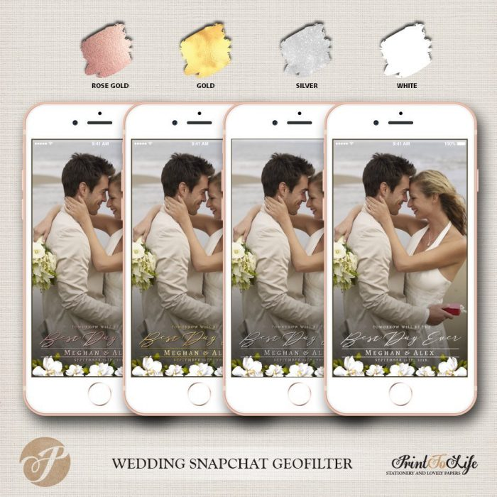Wedding Geofilter, Custom Geofilter, Snapchat Geofilter, #Magnolia Collection 2