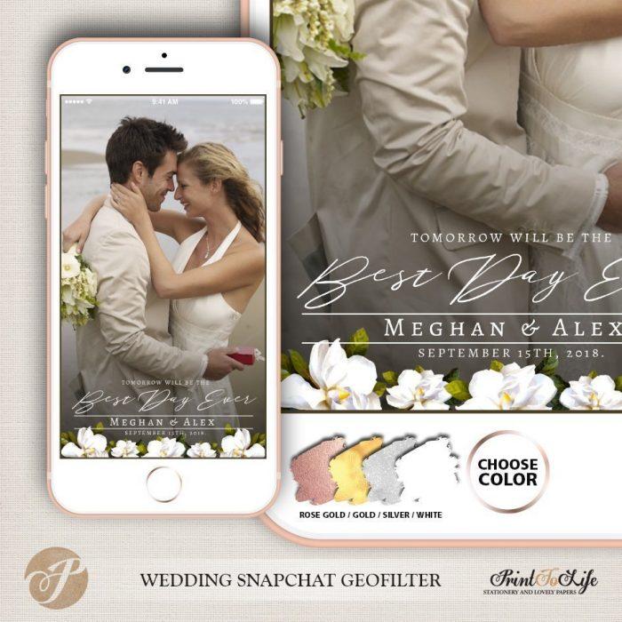 Wedding Geofilter, Custom Geofilter, Snapchat Geofilter, #Magnolia Collection 1
