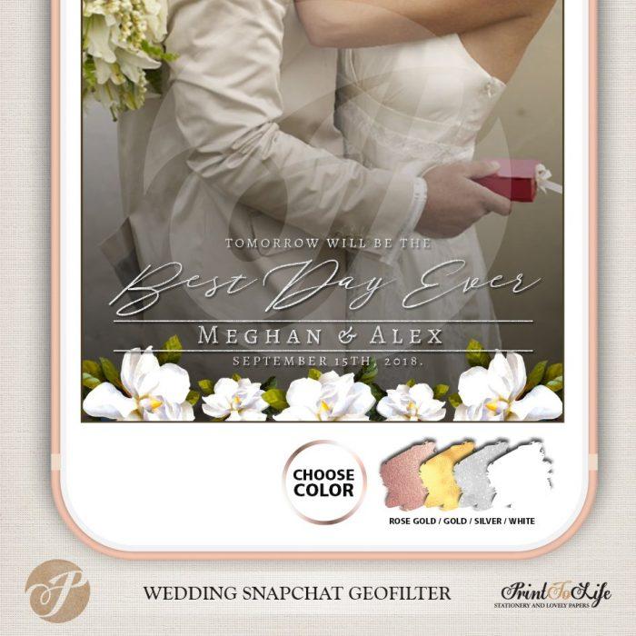 Wedding Geofilter, Custom Geofilter, Snapchat Geofilter, #Magnolia Collection 4