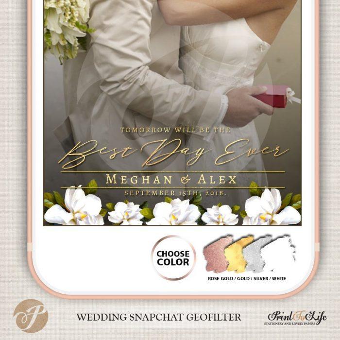 Wedding Geofilter, Custom Geofilter, Snapchat Geofilter, #Magnolia Collection 5