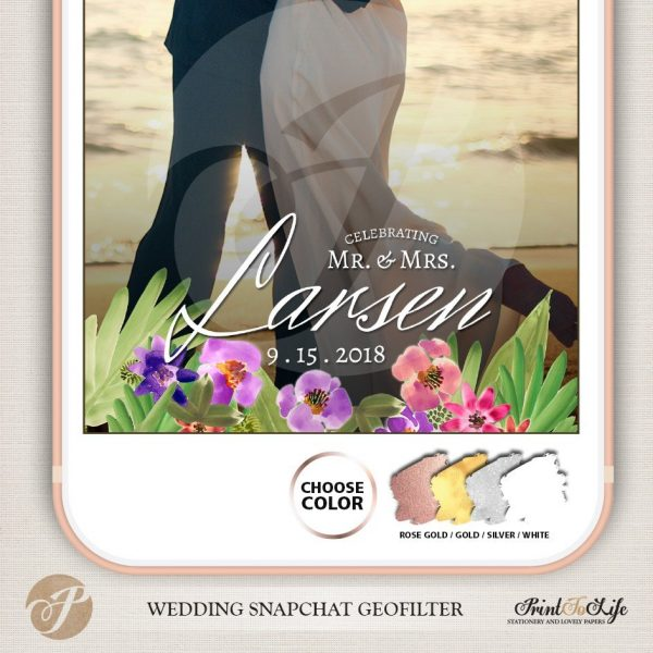 Wedding Geofilter Floral Bouquet