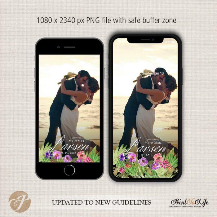 Wedding Geofilter Floral Bouquet, Custom Geofilter, Snapchat Geofilter 3