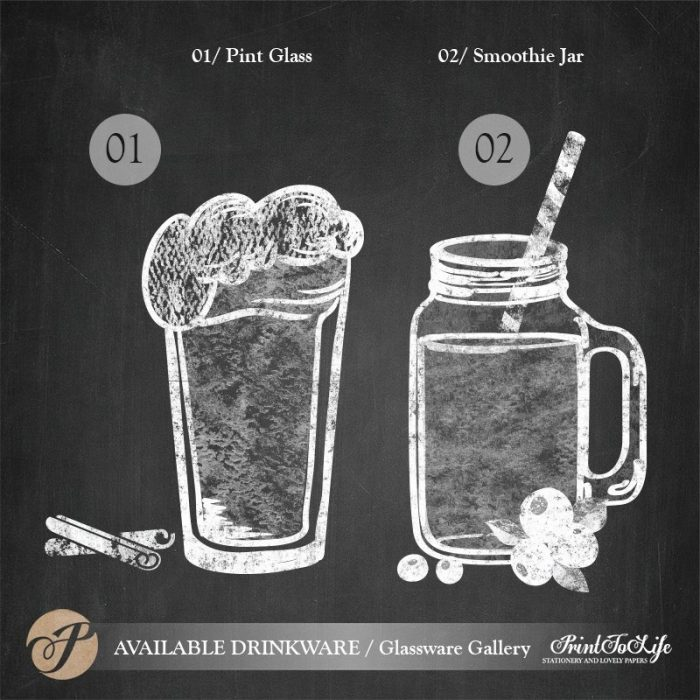 Signature Drinks Sign, Illustrated Wedding Bar Sign, Printable Bar Menu, Chalkboard Template. 2