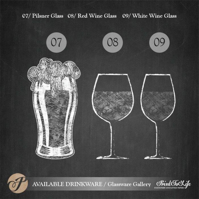 Signature Drinks Sign, Illustrated Wedding Bar Sign, Printable Bar Menu, Chalkboard Template. 5