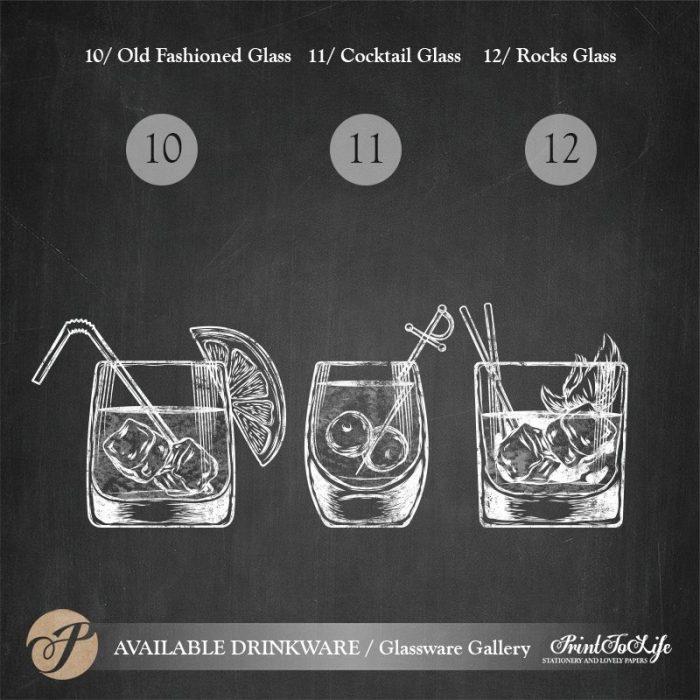 Signature Drinks Sign, Illustrated Wedding Bar Sign, Printable Bar Menu, Chalkboard Template. 6