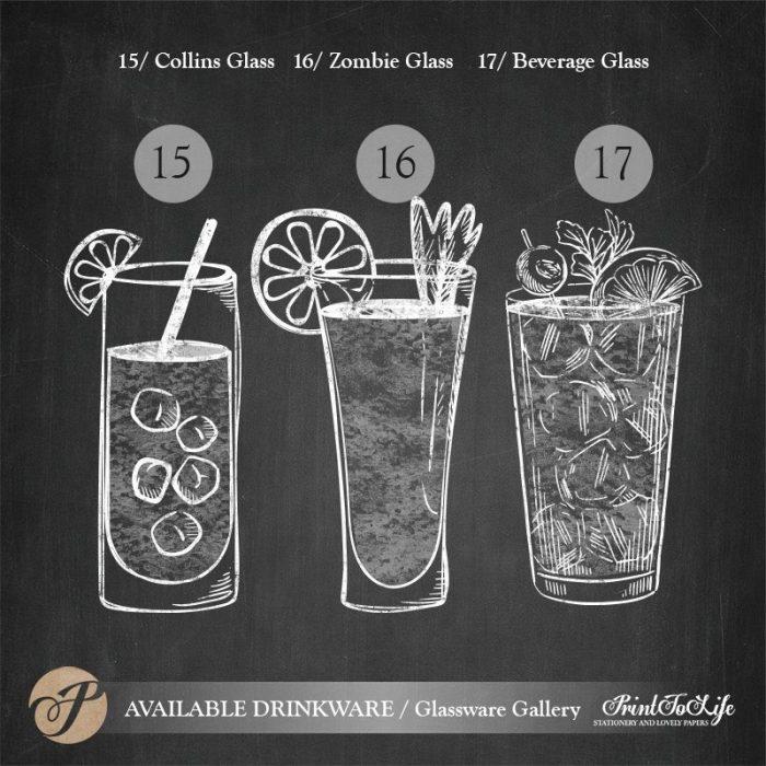Signature Drinks Sign, Illustrated Wedding Bar Sign, Printable Bar Menu, Chalkboard Template. 8