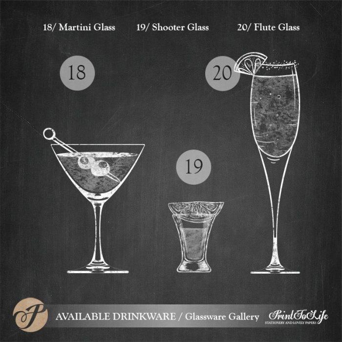 Signature Drinks Sign, Illustrated Wedding Bar Sign, Printable Bar Menu, Chalkboard Template. 9