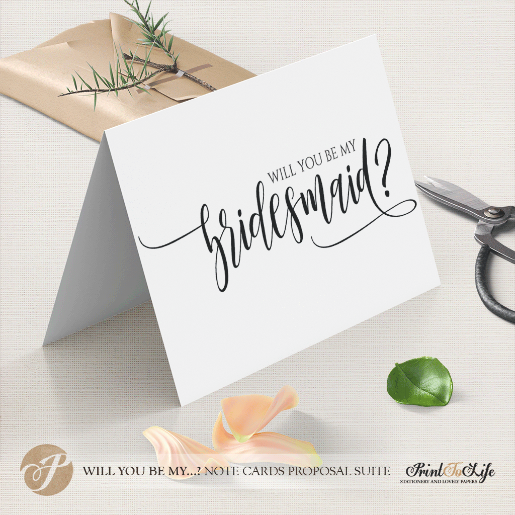 Will you be my bridesmaid card by Printolife