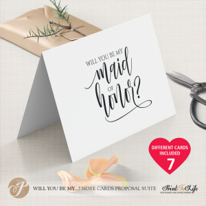 Will you be my maid of honor card by Printolife