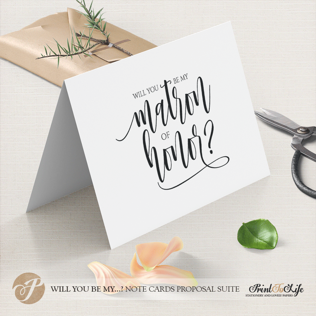 Will you be my matron of honor card by Printolife