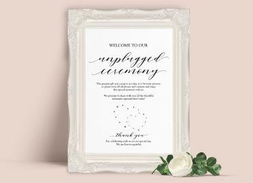 Unplugged Ceremony Sign by Printolife