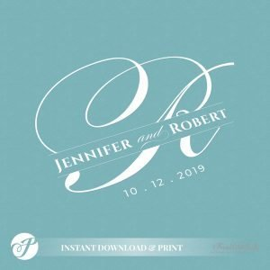 Wedding Monogram by Printolife