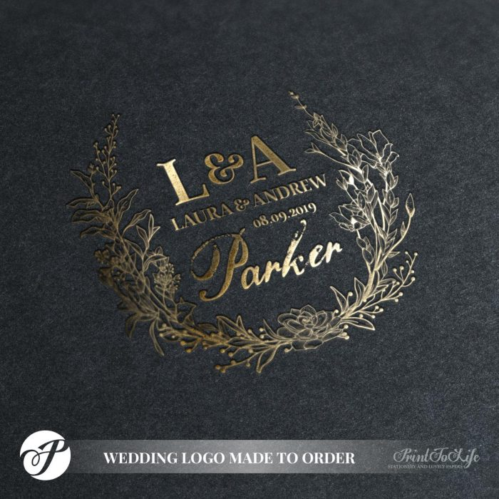 Monogram for Wedding by Printolife