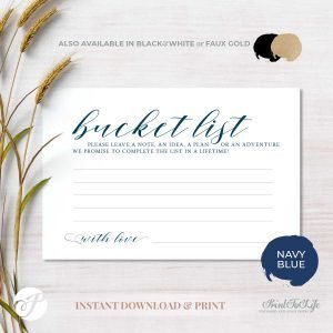 Bucket List Card by Printolife
