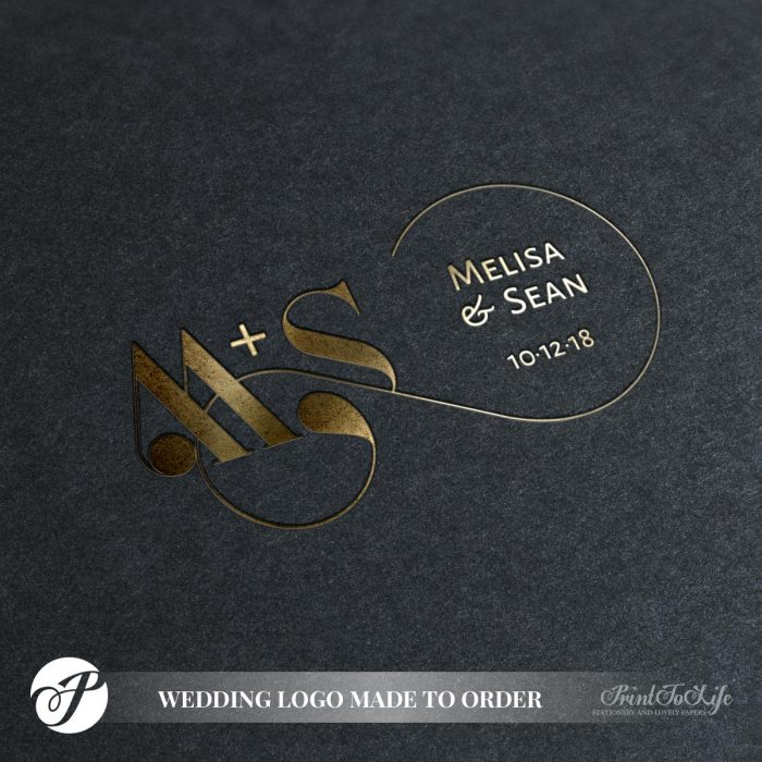 Infinity Wedding Monogram by Printolife