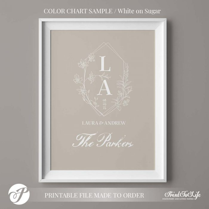 Monogram Gift for Couples by Printolife