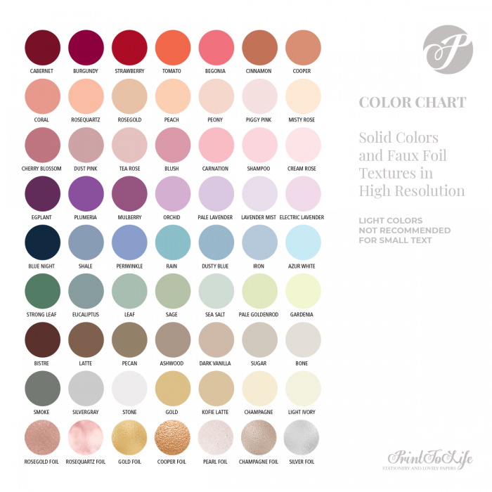 Color Chart by Printolife