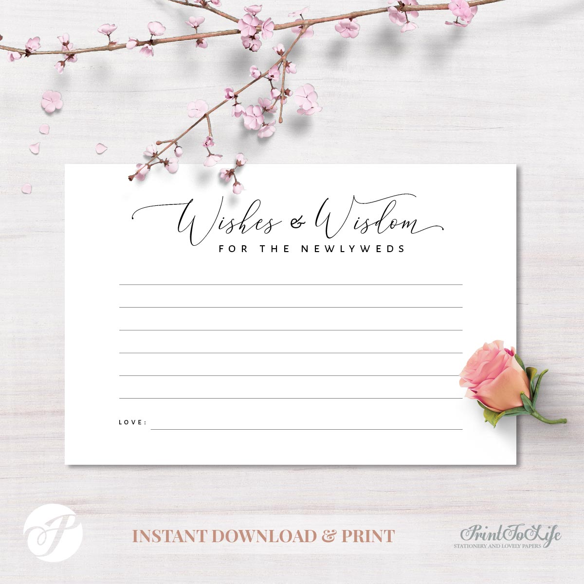 Wedding Advice Card by Printolife