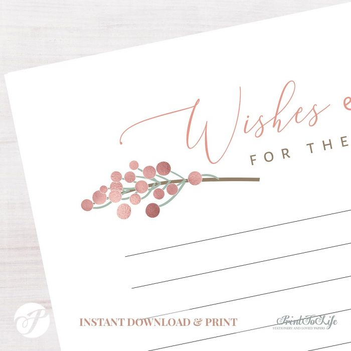 Wishes & Wisdom for the Newlyweds Card by Printolife