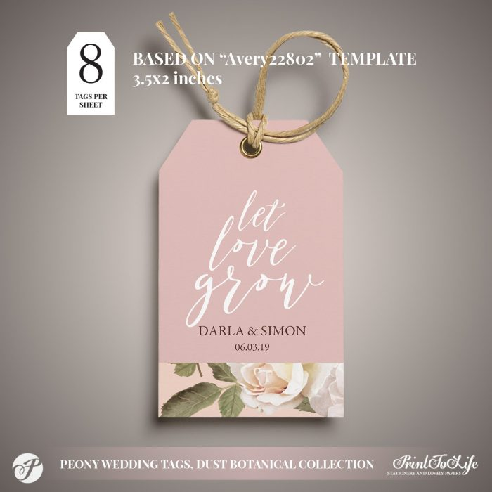 let love grow gift tag by Printolife