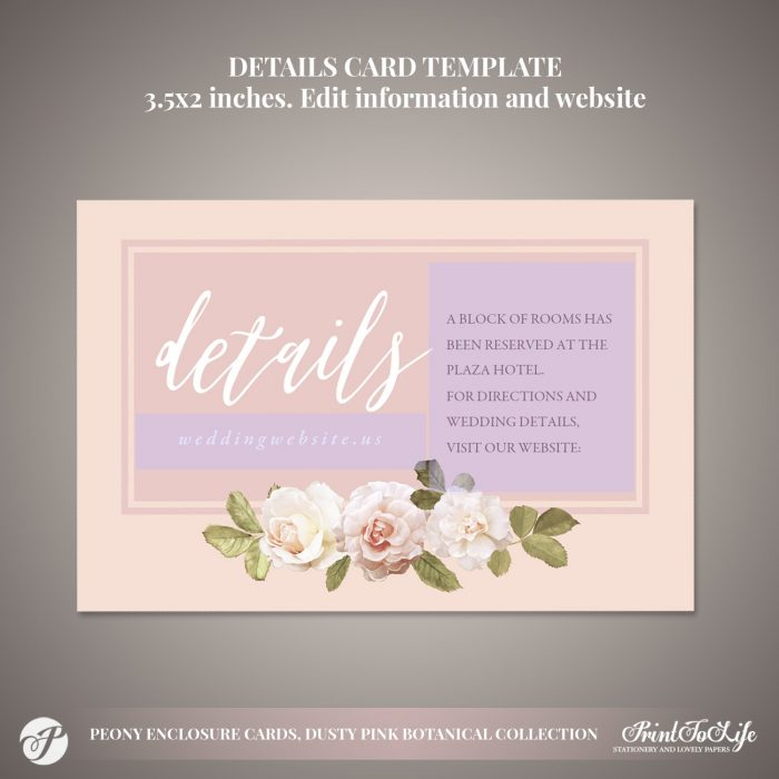 Peony Details Cards by Printolife