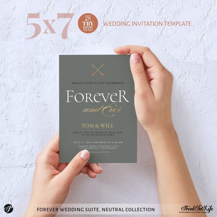 Wedding Invitation Forever Wedding Suite by Printolife