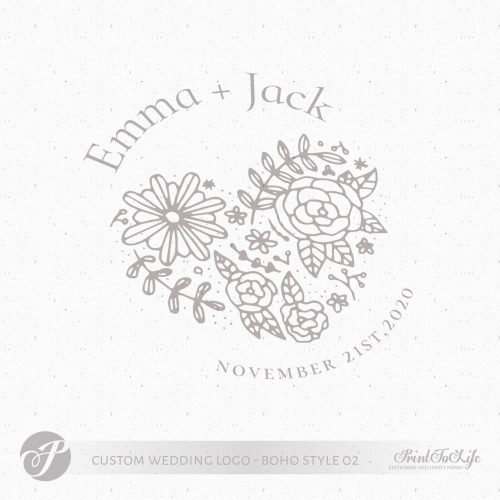 wedding heart logo