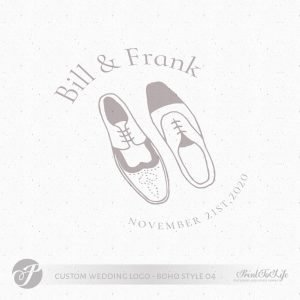 men wedding logo