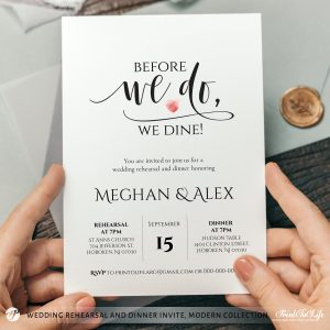 Before we do we dine invitation template
