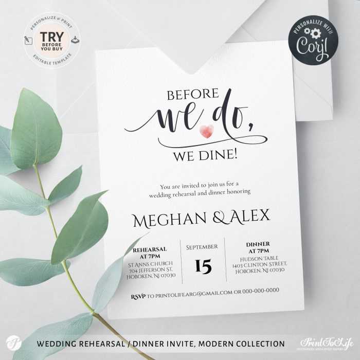 Before we do we dine invitation template, Edit with Corjl 2