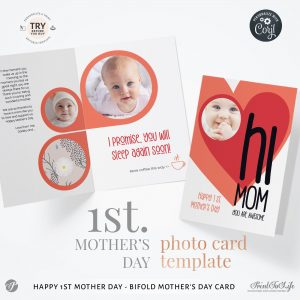 Personalized 1st Mothers Day Card