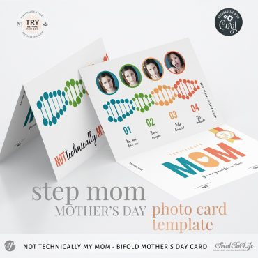 personalized mothers day step mom card