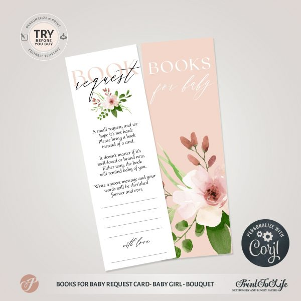 books for baby request card