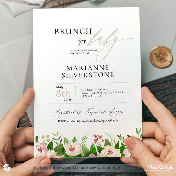 Baby Brunch Shower Invitation